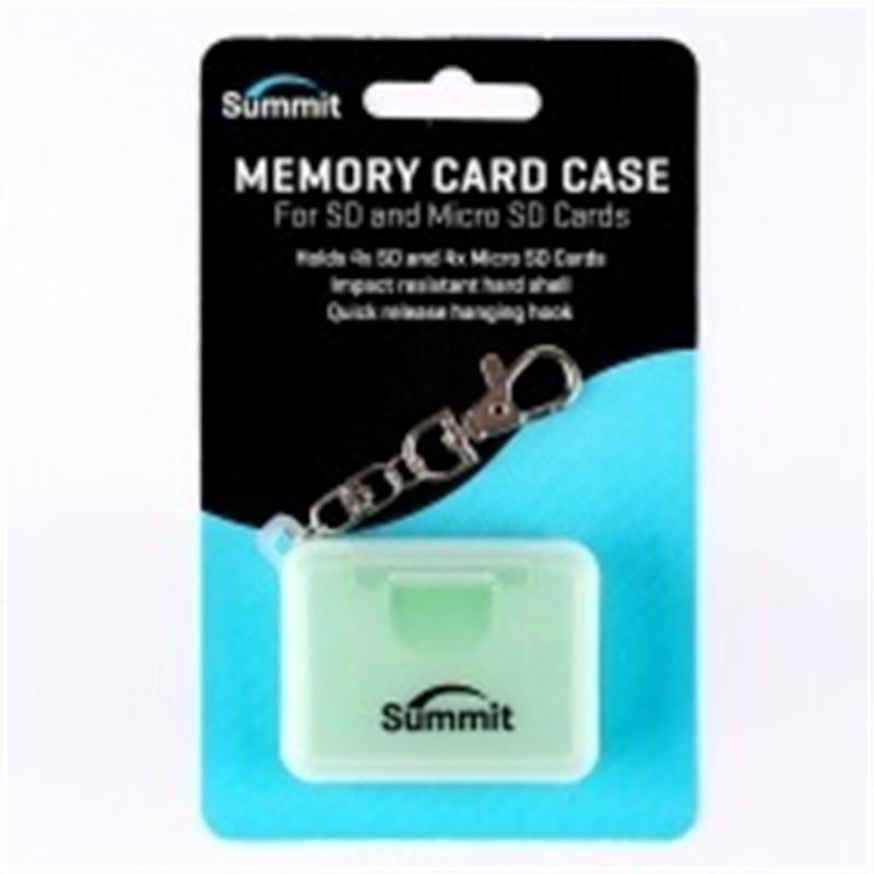 Summit Memory Card Case for SD & MICRO-SD Cards - Green  Thumbnail Image 0
