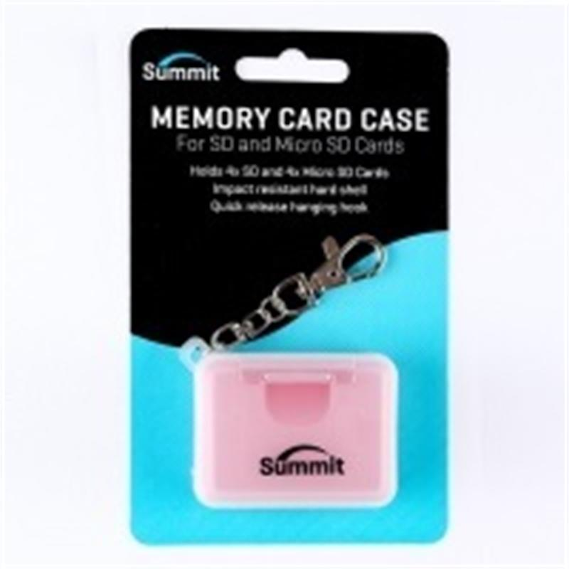 Summit Memory Card Case for SD & MICRO-SD Cards - Red           SALE £5.99 Thumbnail Image 0