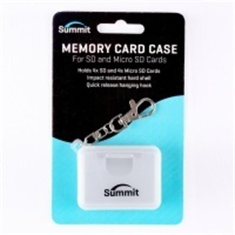 Summit Memory Card Case For SD & MICRO-SD Cards - Grey          Thumbnail Image 0