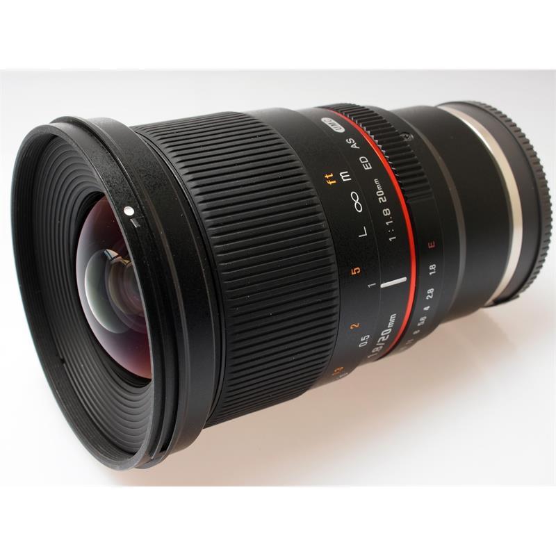 Samyang 20mm F1.8 ED AS UMC FE V - Sony E Thumbnail Image 0