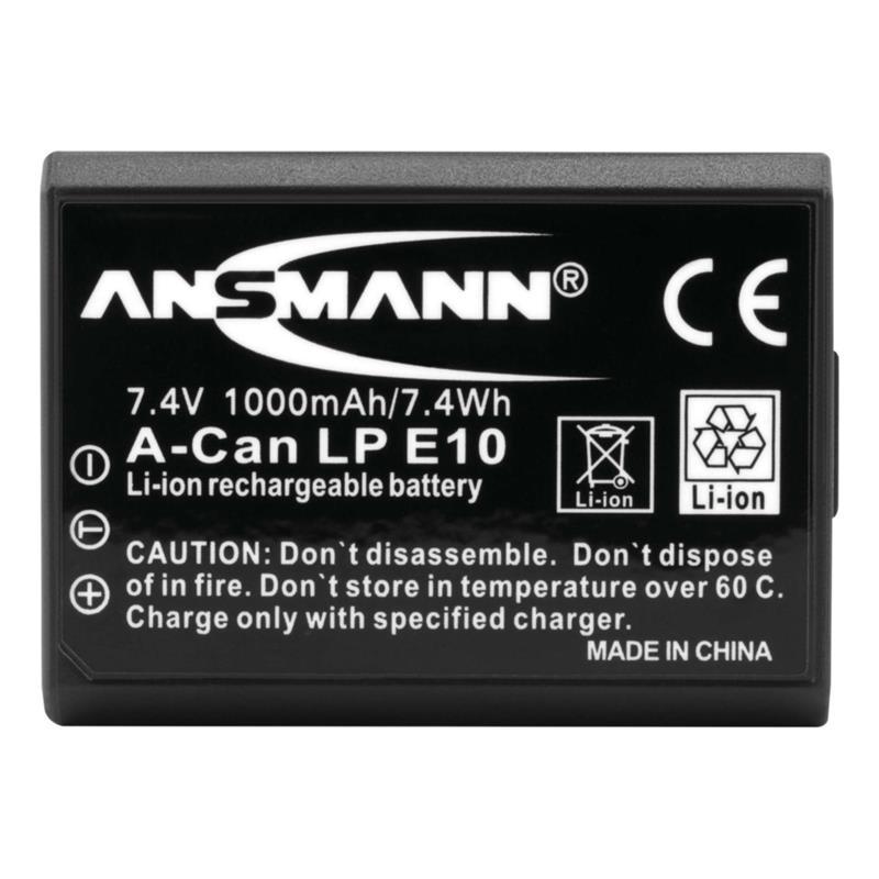 Ansmann LP-E10 Battery - fits Canon Thumbnail Image 1