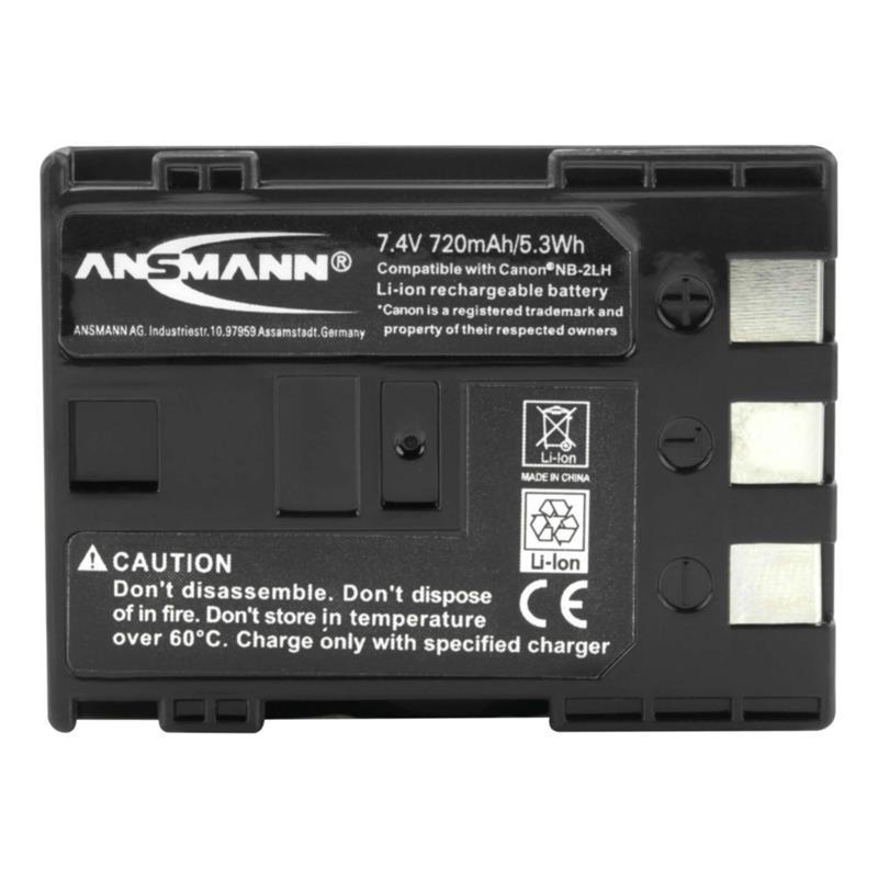 Ansmann NB-2LH Battery - fits Canon Thumbnail Image 1
