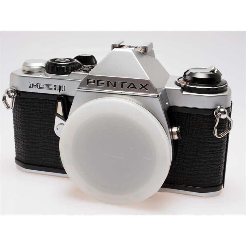 Pentax ME-Super Chrome Body + AF200S Flash Thumbnail Image 0