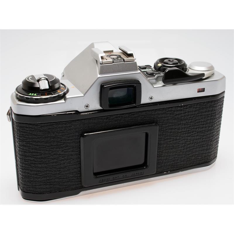 Pentax ME-Super Chrome Body + AF200S Flash Thumbnail Image 1