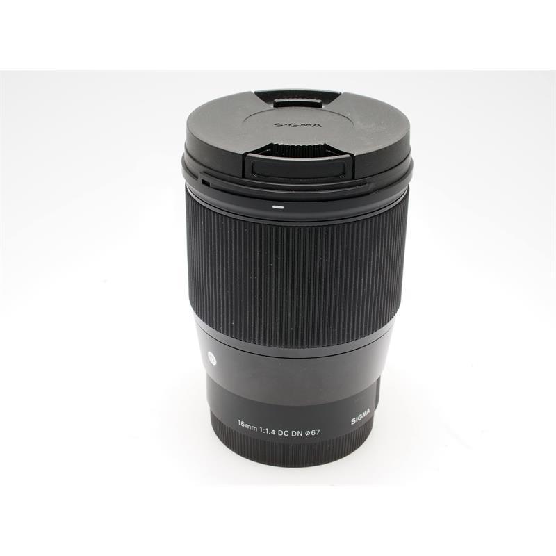 Sigma 16mm F1.4 DN C - Black - Sony E Thumbnail Image 0