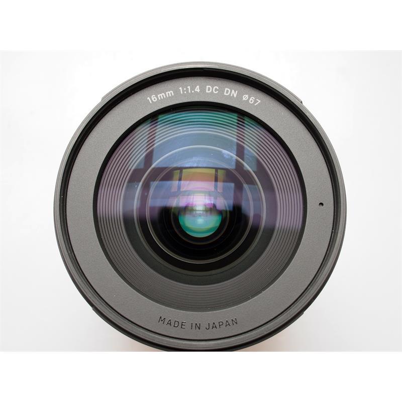 Sigma 16mm F1.4 DN C - Black - Sony E Thumbnail Image 1