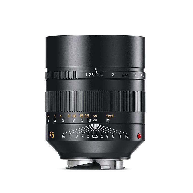 Leica 75mm F1.25 Asph Noctilux M - Black Thumbnail Image 0