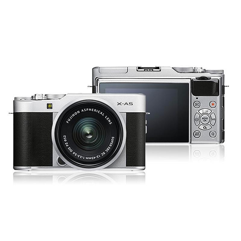 Fujifilm X-A5 + 15-45mm - Silver/Silver Image 1