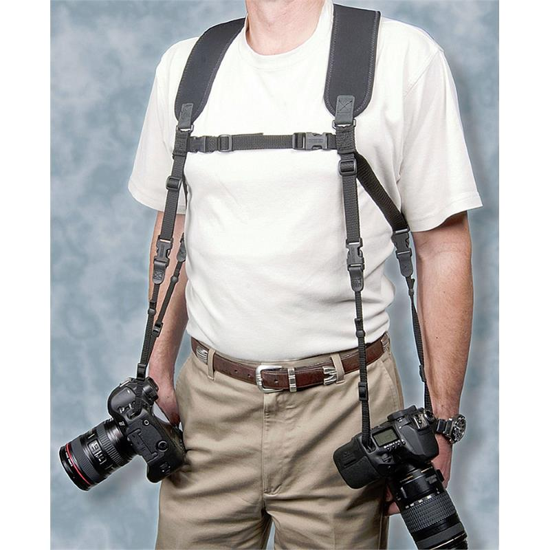 Op/Tech Dual Harness - Black  Image 1