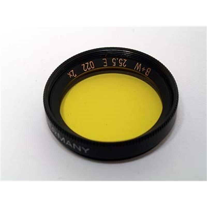B+W 25.5mm Medium Yellow (022)  Image 1