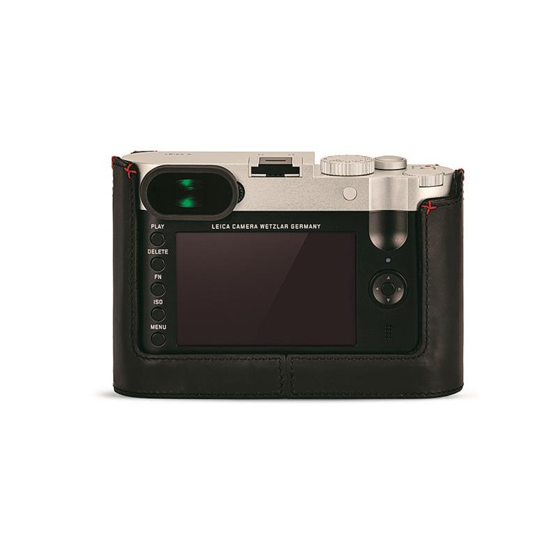 Leica Protector for Q (Typ116) - Black with Red Handstitch 19539   Thumbnail Image 1