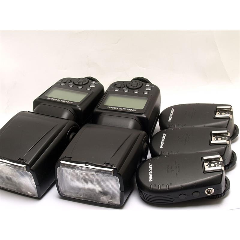 Photoflex 2x M800C Speedlites + 3x Transceivers - Canon EOS Thumbnail Image 0