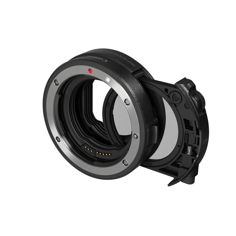 Canon Drop-In Filter Mount Adapter EF-EOS R with V-ND filter Image 1