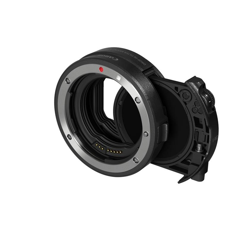 Canon Drop-In Filter Mount Adapter EF-EOS R with C-PL filter Image 1