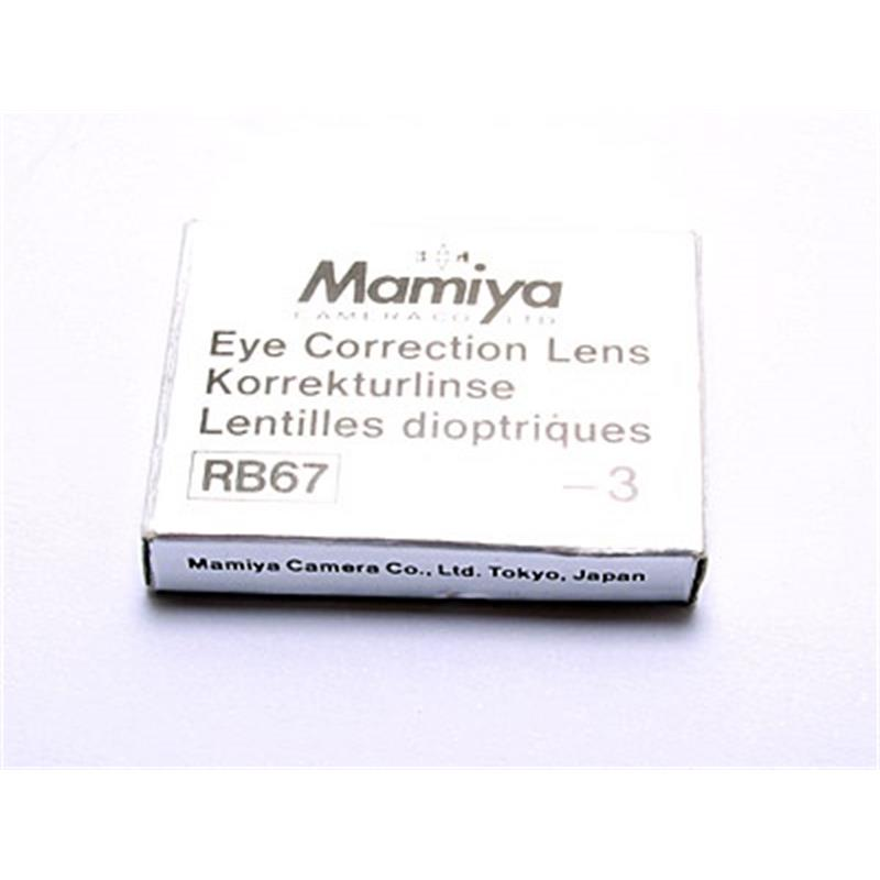 Mamiya Diopter Lens (RB/RZ) -3 For Prism Image 1