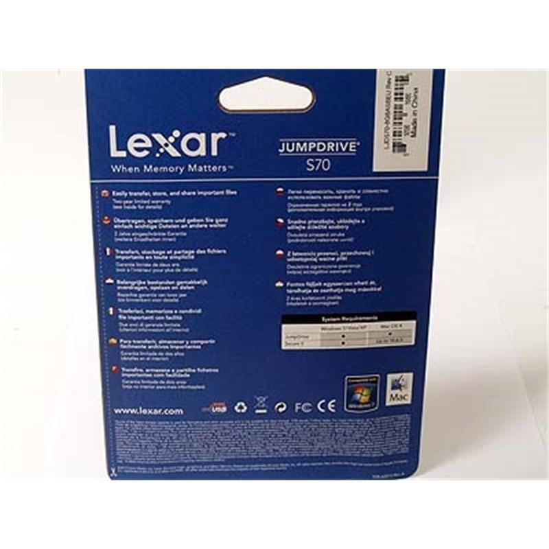 Lexar 8GB JumpDrive S70 *Clearance* Thumbnail Image 1