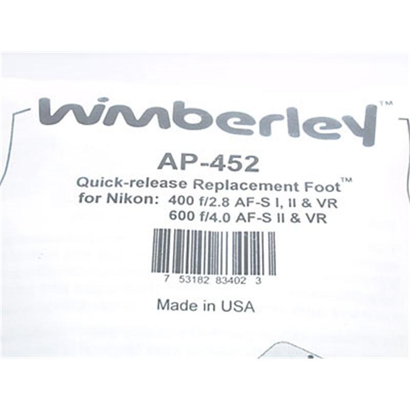 Wimberley AP-0452 Plate (Nikon 400/2.8, 600/4) Thumbnail Image 2
